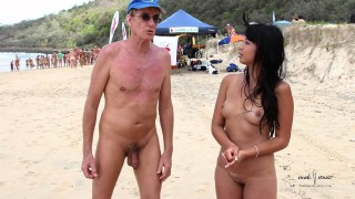Нудисткий пляж в Австралии.Спортивные мероприятия