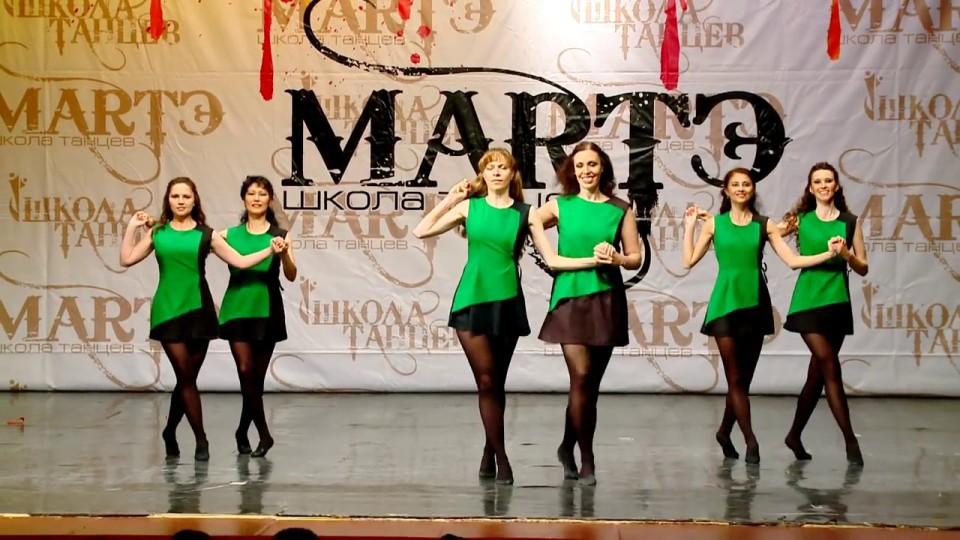 Народные танцы мира. Ирландский танец 'Reel' в школе танцев.
